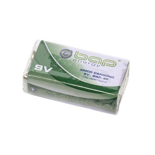Bateria 9V BAP Energy 6F Zinco Carbono
