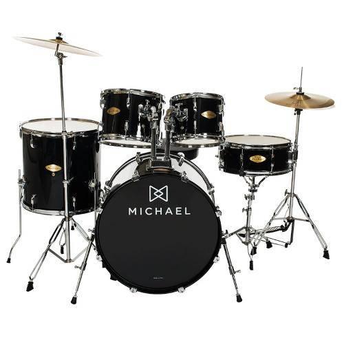 """Bateria Acústica Michael Audition Dm827 Preta Bumbo 20"""""""