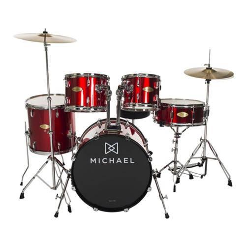 "Bateria Acústica Michael Audition Dm828 Rd Bumbo 22"""