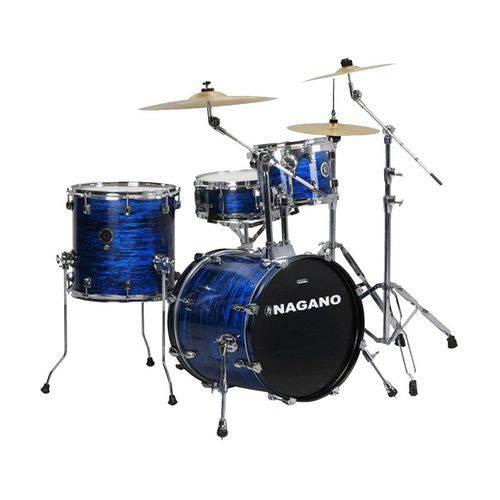Bateria Acústica Nagano - Bumbo 18 Polegadas Concert Gig - Brooklin Blue