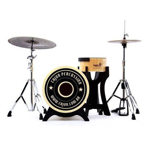 Bateria Cajón Percussion Bateron Bbcx500 Mini Bateria Cajón Kit Compacto com Bumbo 18¨ e Caixa