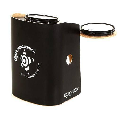 Bateria Cajón Percussion Gig Box Gb-pr Preto Mini Bateria Cajón Kit Compacto