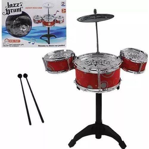 Bateria com 03 Tambores 35cm - Jazz Drum - CIM Toys