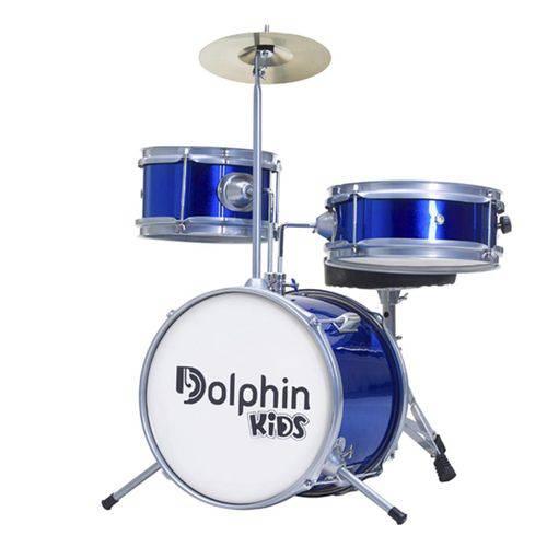 Bateria Dolphin 10257 Little 3 Pecas Azul
