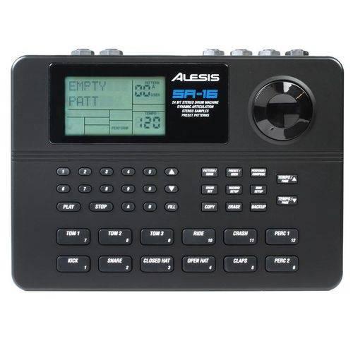 Bateria Eletronica Alesis Sr-16 Midi 233 Sons Programavel