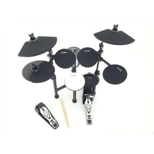 Bateria Eletrônica Custom Drums Cde700 Pad Bumbo Pedal Duplo