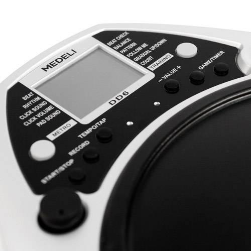 Bateria Eletrônica Digital com 65 Percursão Voices e 6 Metrônomo Voice, 24 Ritmos - Exercício de Precisão - Dd6 Medeli