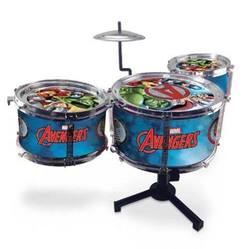 Bateria Infantil Avengers Vingadores Musical com 3 Tambores Toyng
