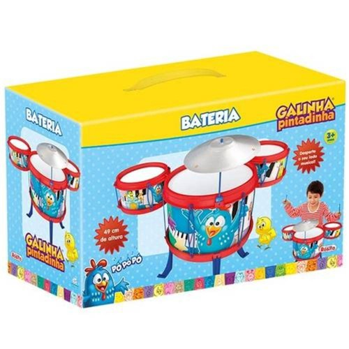 Bateria Infantil Galinha Pintadinha 9242 - Rosita