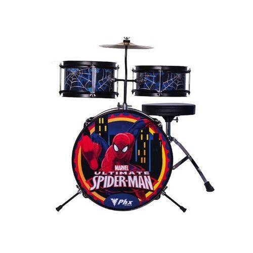 Bateria Infantil Marvel Spider Man Azul PHX