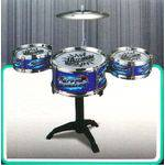 Bateria Infantil Mini Instrumento Educativo Música Jazz Drum - Azul