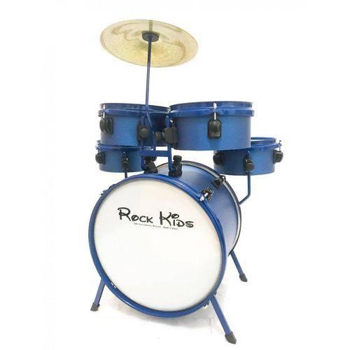 Bateria Infantil Rmv Rock Kids Pbkd14016 - Azul Sparkle