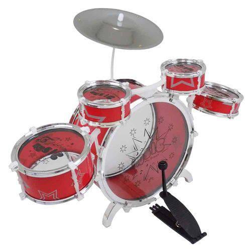 Bateria Musical Grande Vermelha Bt-383 - Fênix