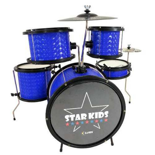 Bateria Musical Infantil Luen Star Kids com Chimbal