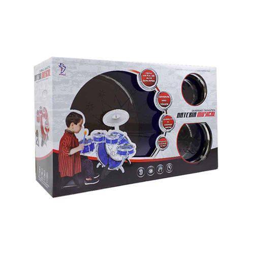 Bateria Musical Pequena Azul Bt-381 - Fênix