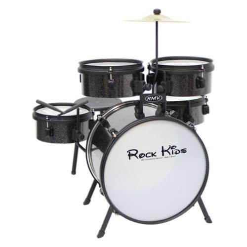 Bateria Musical Rmv Infantil Rock Kids Preta