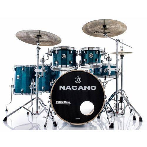 Bateria Nagano Concert Full Lacquer Birch Deep Blue 22¨,10¨,12¨,14¨,16¨ com Kit de Ferragens