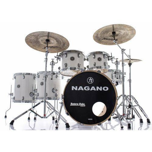Bateria Nagano Concert Full Lacquer Pure White 22¨,10¨,12¨,14¨,16¨ com Kit de Ferragens
