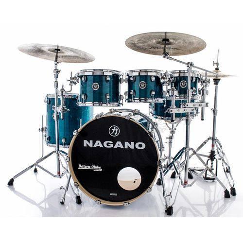 Bateria Nagano Concert Lacquer Deep Blue 20¨,10¨,12¨,14¨ com Kit de Ferragens