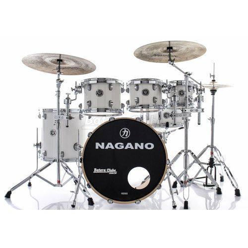 Bateria Nagano Concert Lacquer Pure White 20¨,10¨,12¨,14¨ com Kit de Ferragens