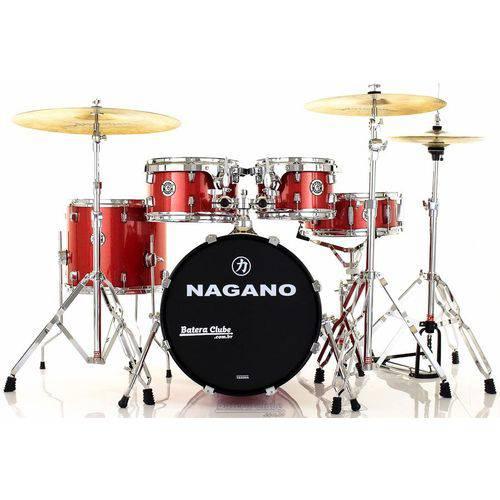 Bateria Nagano Garage Gig Wine Sparkle Bumbo 18¨,10¨,12¨,14¨ Kit de Ferragens e Peles Hidráulicas