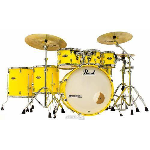 Bateria Pearl Decade Maple High Gloss Solid Yellow 22¨,10¨,12¨,16¨ com Kit de Ferragens 830
