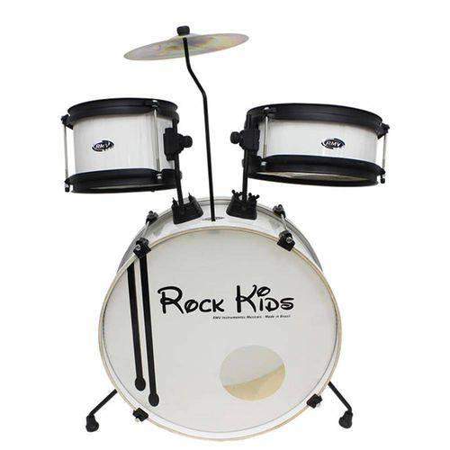 Bateria Rock Kids Ii Rmv Branca