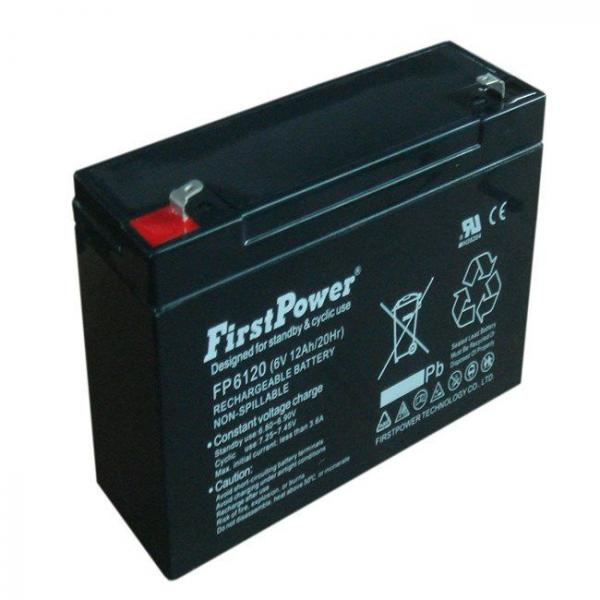 Bateria Selada Fp6120 6v 12ah First Power - Getpower