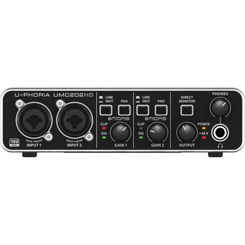 Behringer - Interface de Áudio Usb 2.0 Uphoria Umc202hd
