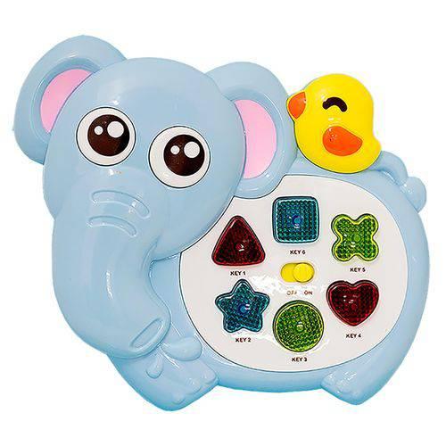 Bichinho Elefante Azul Musical com Luz e Sons