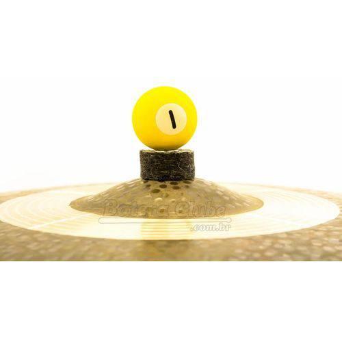 Borboleta Tribal Percussion Bola de Sinuca Nº 01 Amarela para Estantes de Prato 8mm Kit C/ 1 Unidade