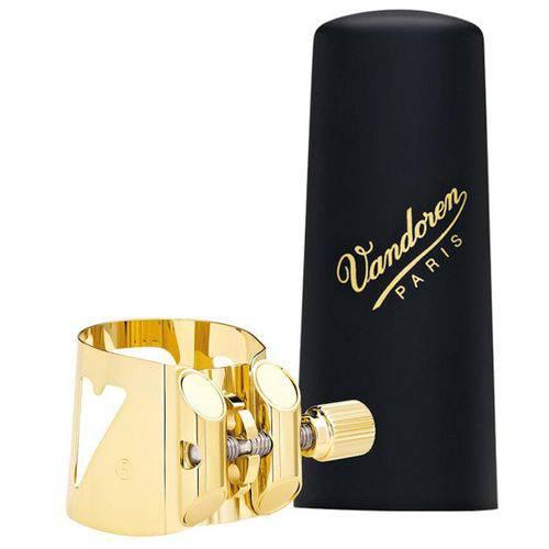 Bracadeira Vandoren Optimum Dourada para Sax Tenor V16 Metal com Cobre Boquilha de Plastico