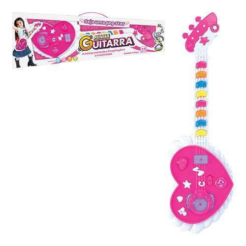 Brinquedo Divertido Guitarra Musical com Efeito de Luzes