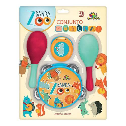 Brinquedo Infantil Conjunto Musical com 4 Peças Banda Zoo