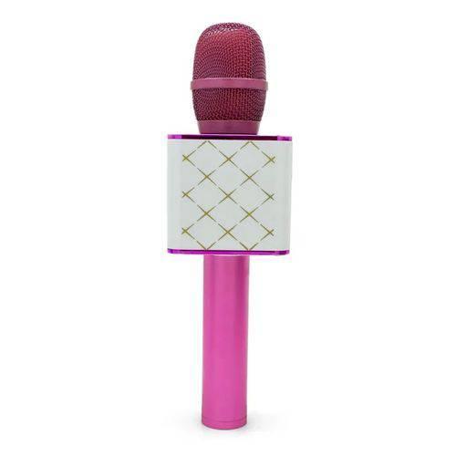 Brinquedo Microfone Karaokê Show Toyng Rosa