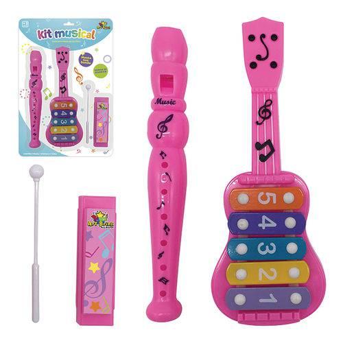 Brinquedo Musical Kit Musical Infantil Rosa