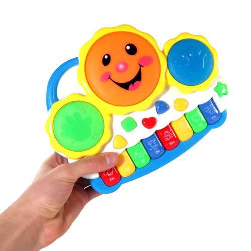 Brinquedo Piano Musical Infantil Teclado Eletrônico Criança