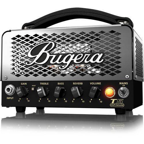 Cabeçote Valvulado para Guitarra T5 Infinium, Classe A, 5W Bugera