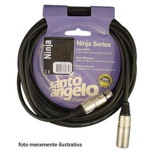 Cabo de Microfone Ninja Canon F/M 3,05M LW10FT