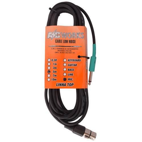 Cabo Emborrachado Ac Works P10/xrl para Microfone 5m