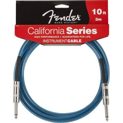 Cabo Fender California Series P10 X P10 Azul 3m