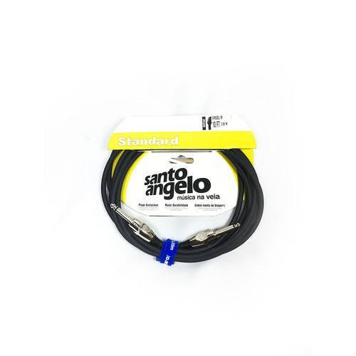 Cabo Guitarra Santo Angelo 0,20MM e Conectores P10N Anglni B 10FT/3.05M