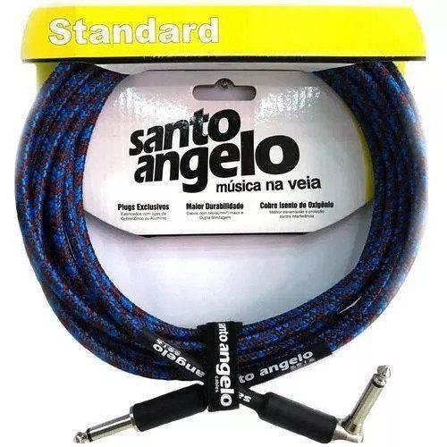 Cabo Violão Guitarra Santo Ângelo Textil 3,05 Metros Plug L