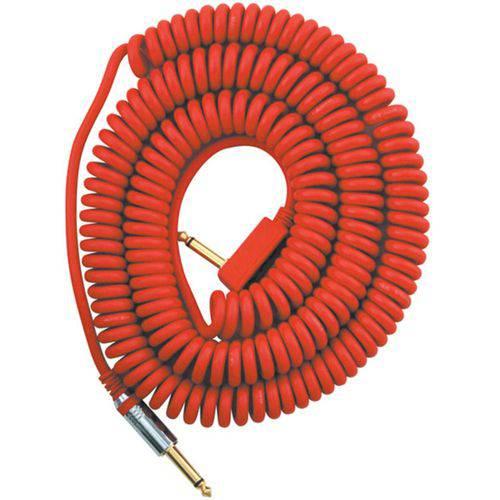 Cabo P10 Espiral Vox Vcc90 Vermelho 9 Metros