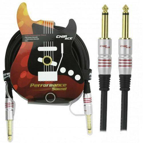 Cabo P10 Mono para P10 Mono Plug Gold Performance Sound Chip Sce – 5 Metr