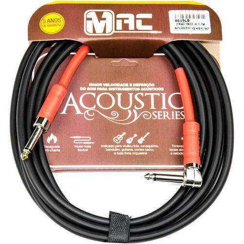 Cabo P10 para Instrumentos Mac Cabos Acoustic Series 4,57m Preto Plug em L