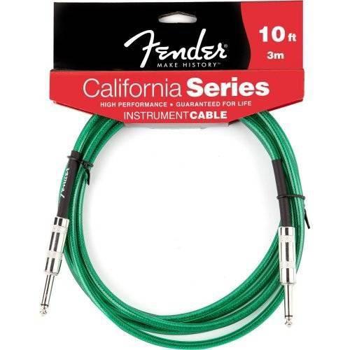 Cabo para Instrumentos 3m California Series Verde Fender