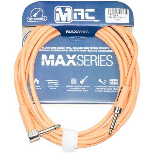 Cabo para Instrumentos Mac Cabos Max Series 4.57m Laranja P10 L