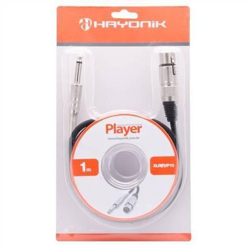 Cabo para Microfone XLR(F) X P10 1 Metro Player Preto - Hayonik