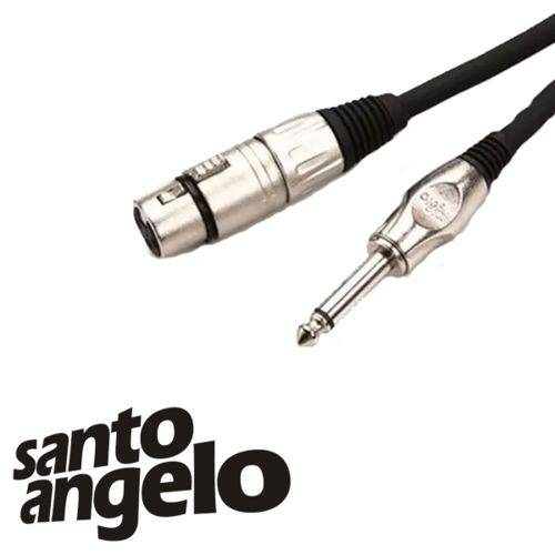 Cabo Santo Angelo para Microfone P10/xlr Angel Hg 4,57m
